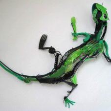 Выставка животных, которых сделала креативная подруга Сайака Ганз