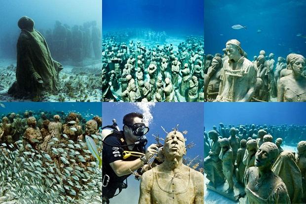MUSA (Museo Subacuatico de Arte) — это подводный музей искусств близ островов Канкуна, Мексика. Около 400 скульптур, выполненных бро Джейсоном деКаир Тейлором очень легко рассмотреть будучи в акваланге, во время сноркелинга или же на лодке со стеклянным дном.