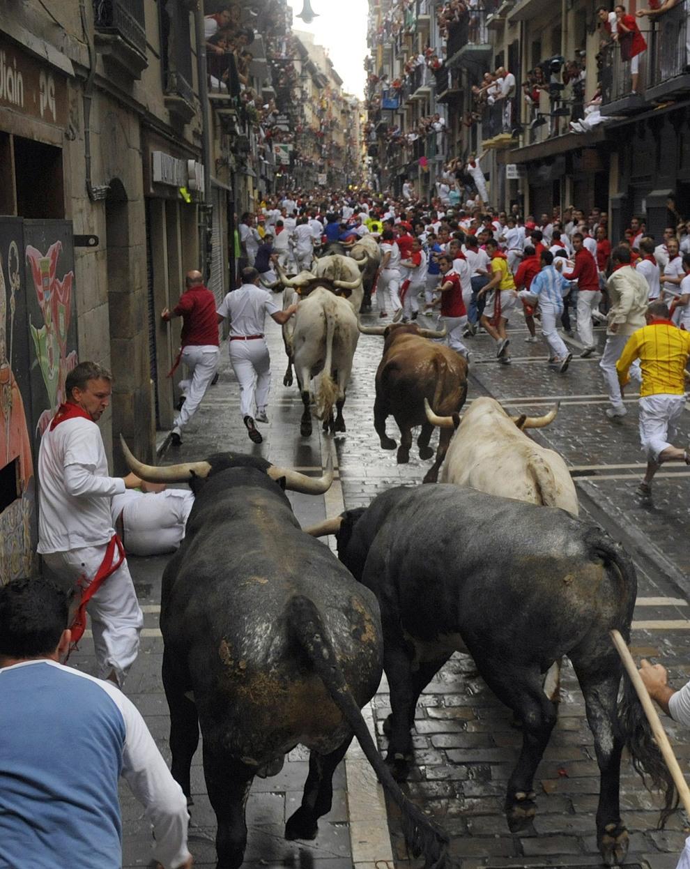 San Fermín, «Бега с быками». Проходит в Памплоне, Испания. Самый опасный фестиваль мира, в котором может принять участие любой желающий Бро. Во время этого торжества на улицы выпускают диких быков. Обезумевшие животные несутся по городу, давя и разрушая все на своем пути. Смельчаки Бро выскакивают перед разъяренными животными, а потом пытаются убежать от них, что удается далеко не каждому... травмы от рогов и копыт вполне могут оказаться последними в жизни.