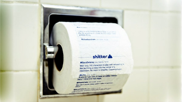 Shitter: ваш twitter на туалетной бумаге