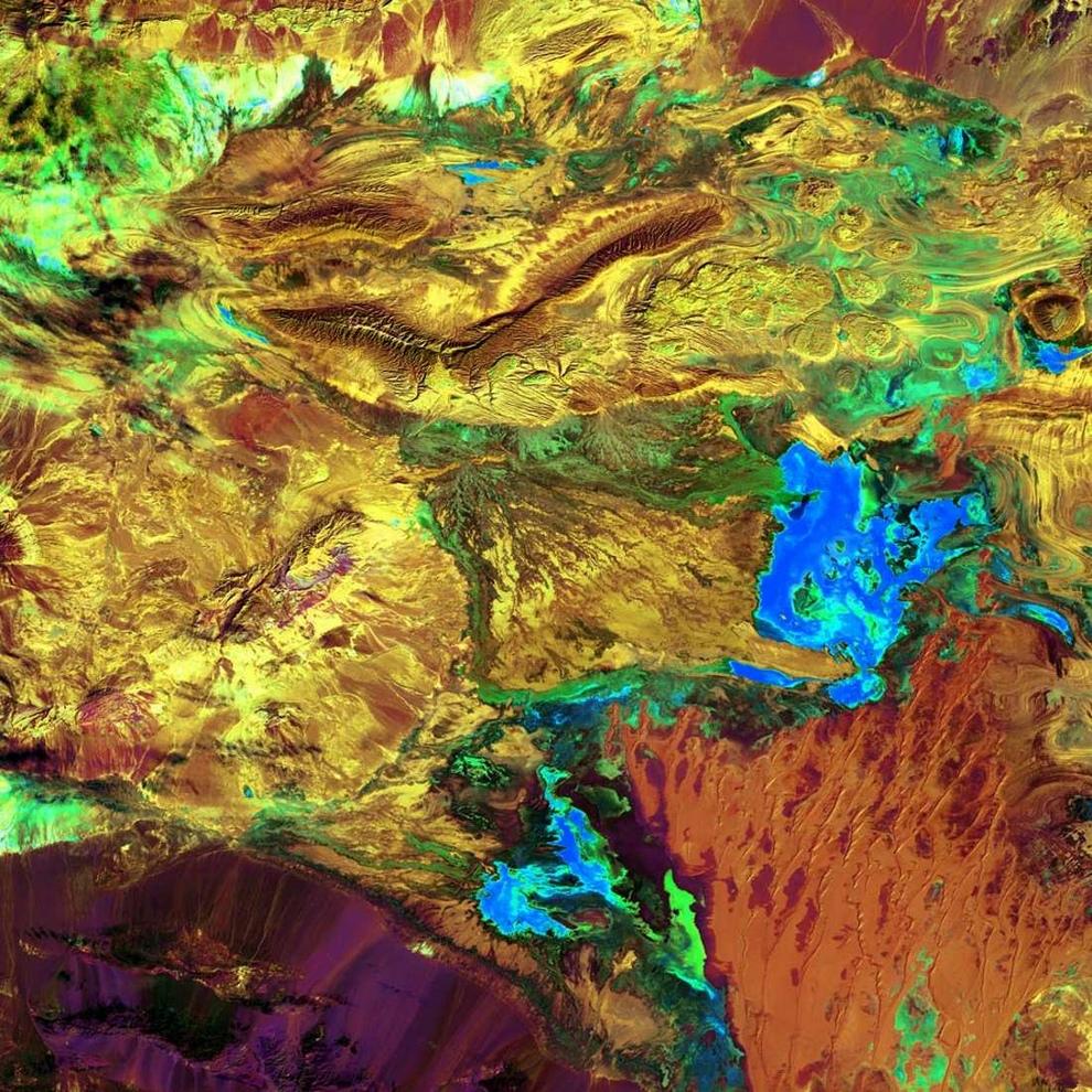 Деште-Кевир, или Большая Соляная пустыня Ирана.