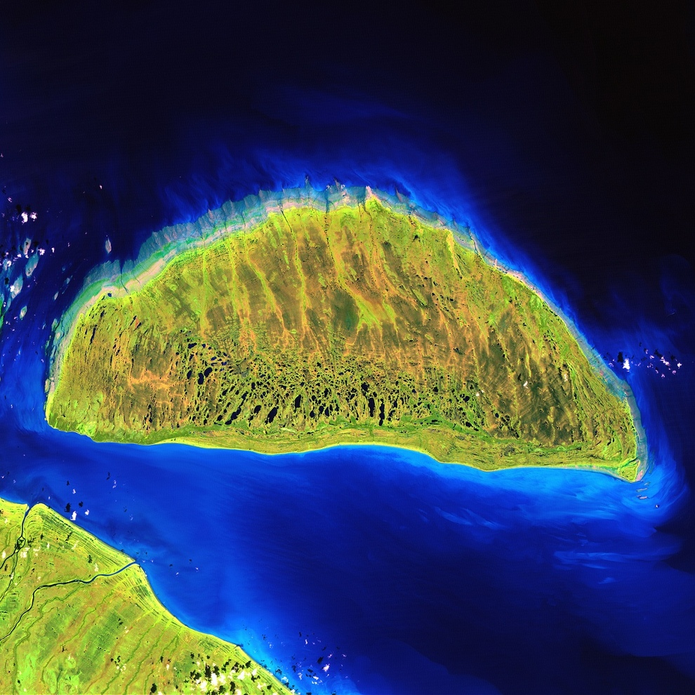 Крупнейший остров в заливе Джеймс — Акимиски.