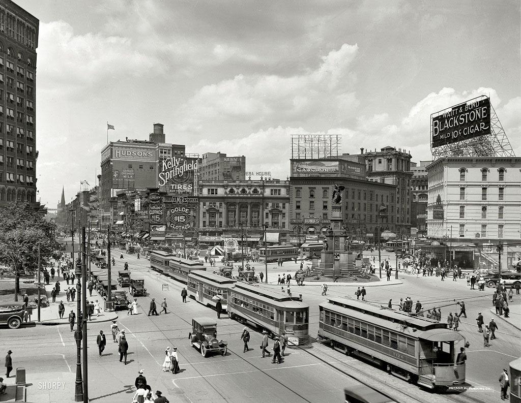 Вудворд-авеню, Детройт, штат Мичиган, 1917 год.