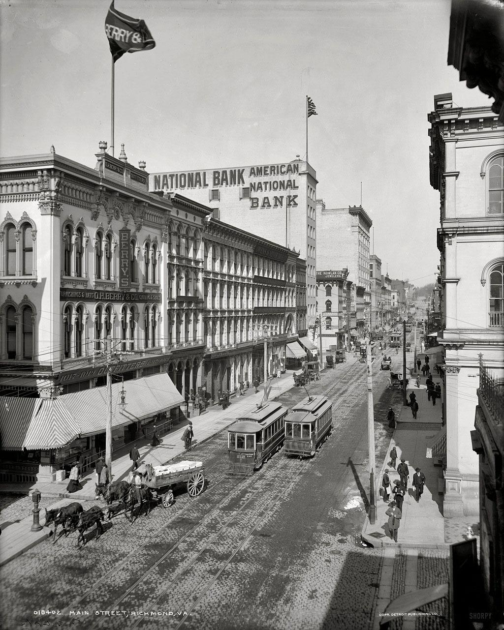 Главная улица Ричмонда, штат Вирджиния, 1905 год.