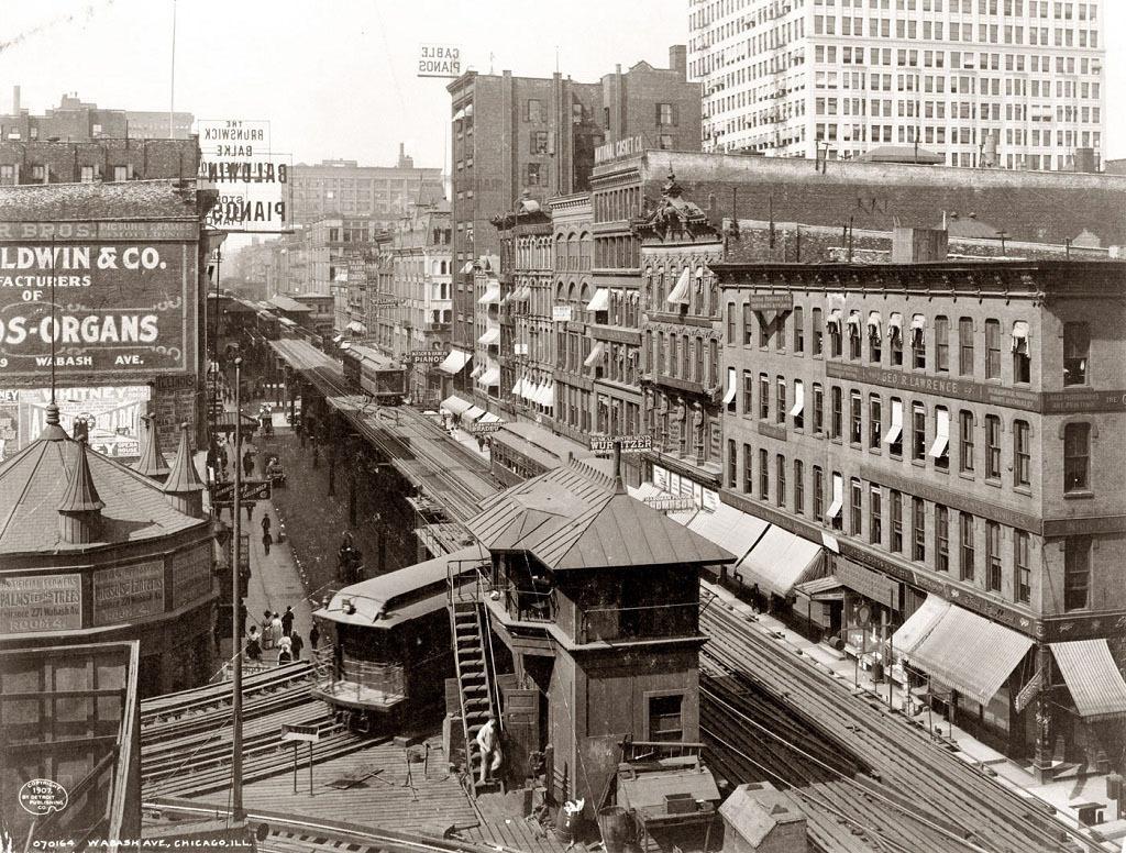 Вабаш-авеню, Чикаго, 1907 год.