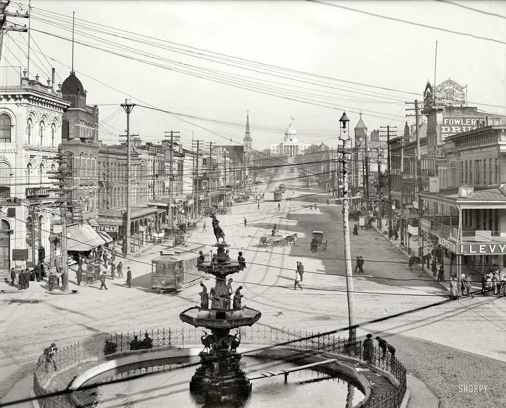 Декстер-авеню и Капитолий, Монтгомери, штат Алабама, 1906 год.