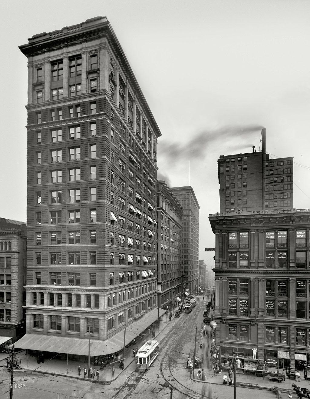 Валнут-стрит, Цинциннати, штат Огайо, 1910 год.