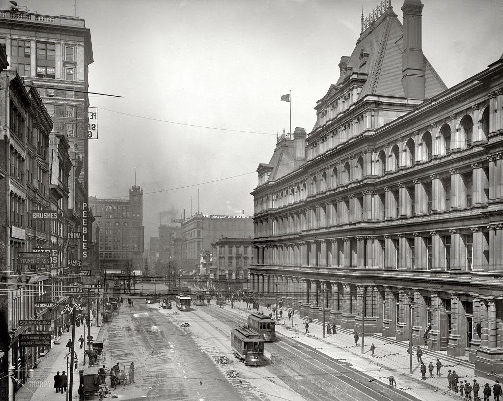 Площадь правительства в Цинциннати, штат Огайо, 1905 год.