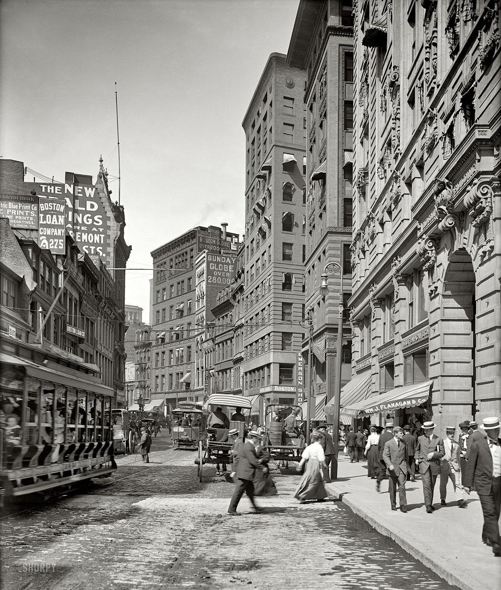 Бостон, штат Массачусетс, 1906 год.