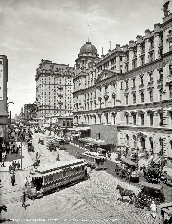 Центральный вокзал и отель, Манхэттен, Нью-Йорк, 1903 год.
