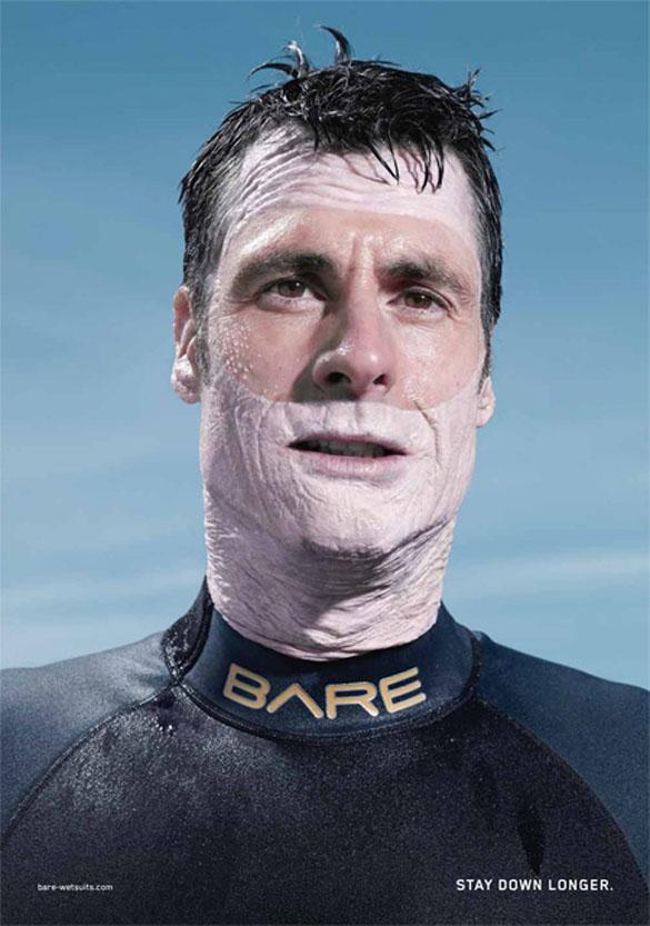 Оставайтесь под водой дольше. Водолазные костюмы Bare