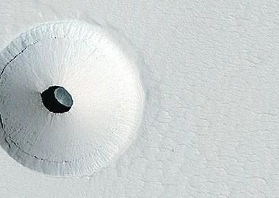 На Марсе обнаружен гигантский стеклянный купол