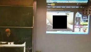 Профессор в ВУЗе смотрел порнографию и забыл выключить проектор