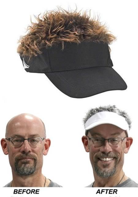 кепка с волосами