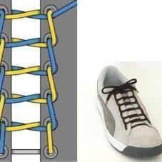 Несколько быстрых и оригинальных способов завязать шнурки
