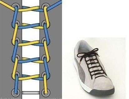 Несколько быстрых и оригинальных способов завязать шнурки BroDude.ru kak zavyazivat shnurki 5
