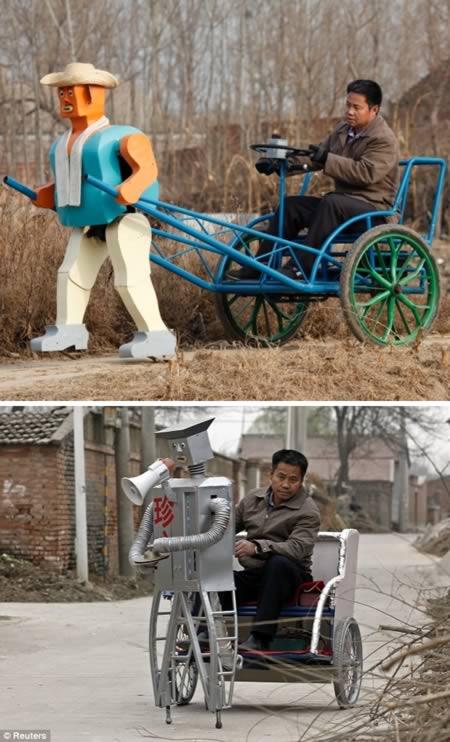 самодельный робот-рикша