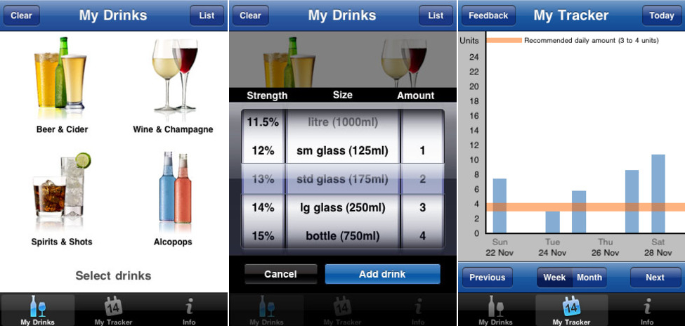 NHS Drink Tracker