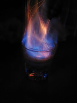 коктейли которые горят