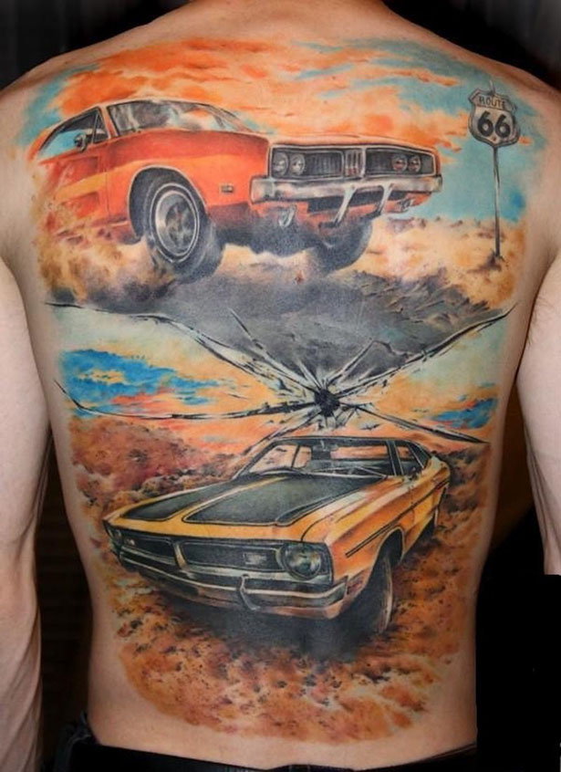 Татуировки на автомобильную тему BroDude.ru brodude.ru 1.11.2013 A2cWwwxGJbUOe