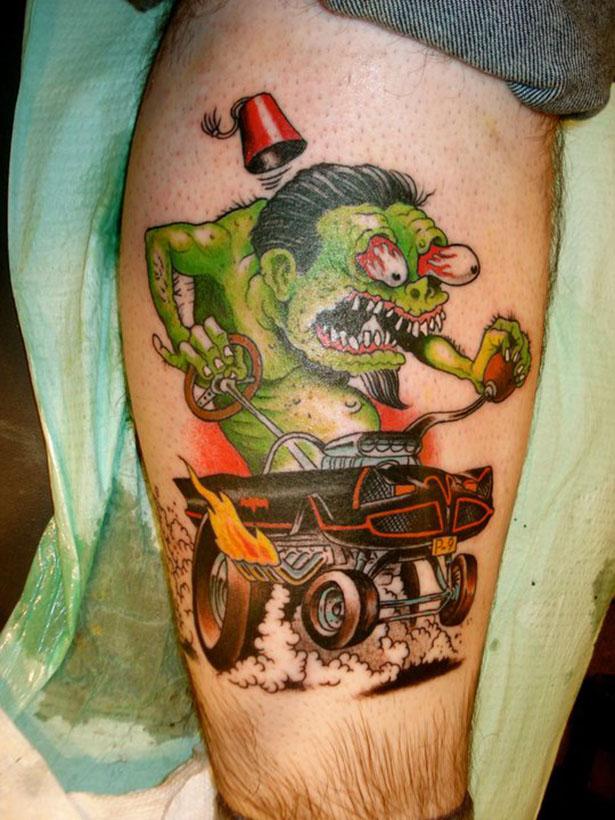 Татуировки на автомобильную тему BroDude.ru