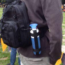 Походный держатель для бутылки своими руками