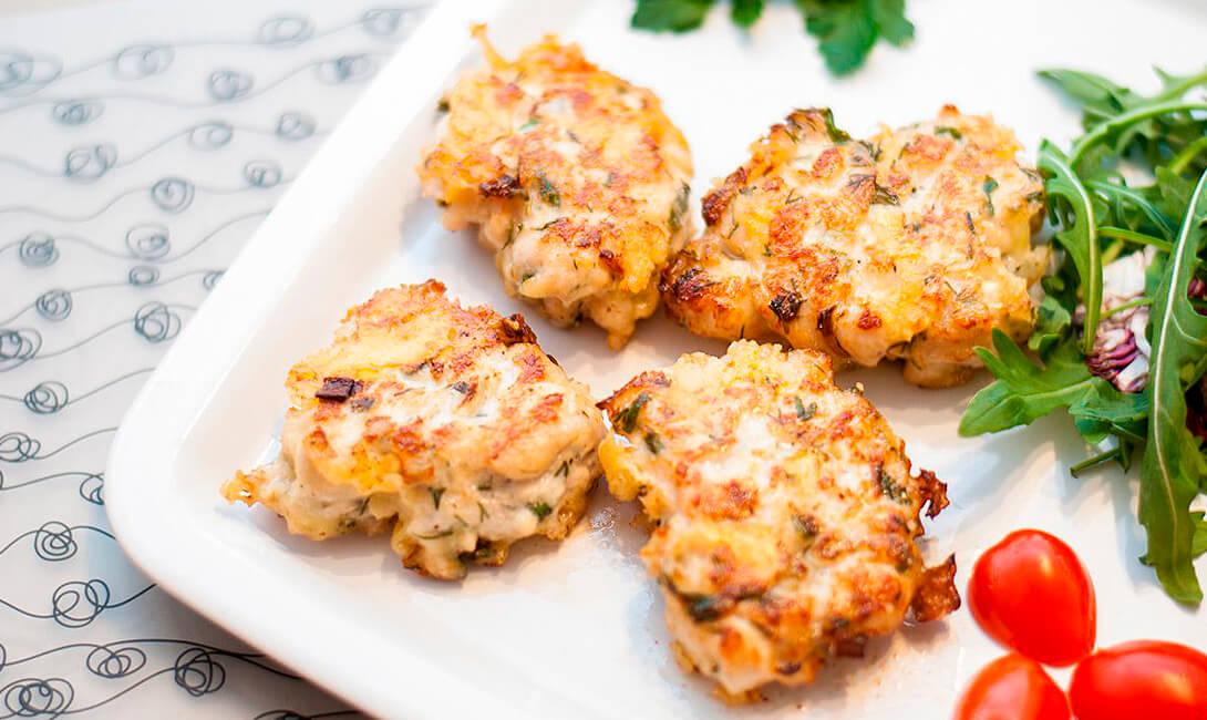 Котлеты куриные рубленные с грибами и сыром