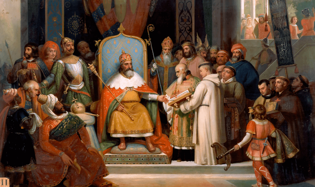 an overview of the death of charlemagne the king of the franks