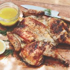 Как приготовить целую курицу за полчаса