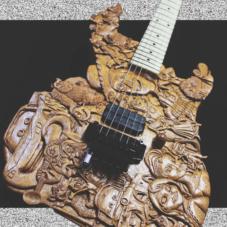 Потрясающая самодельная гитара по мотивам студии Pixar