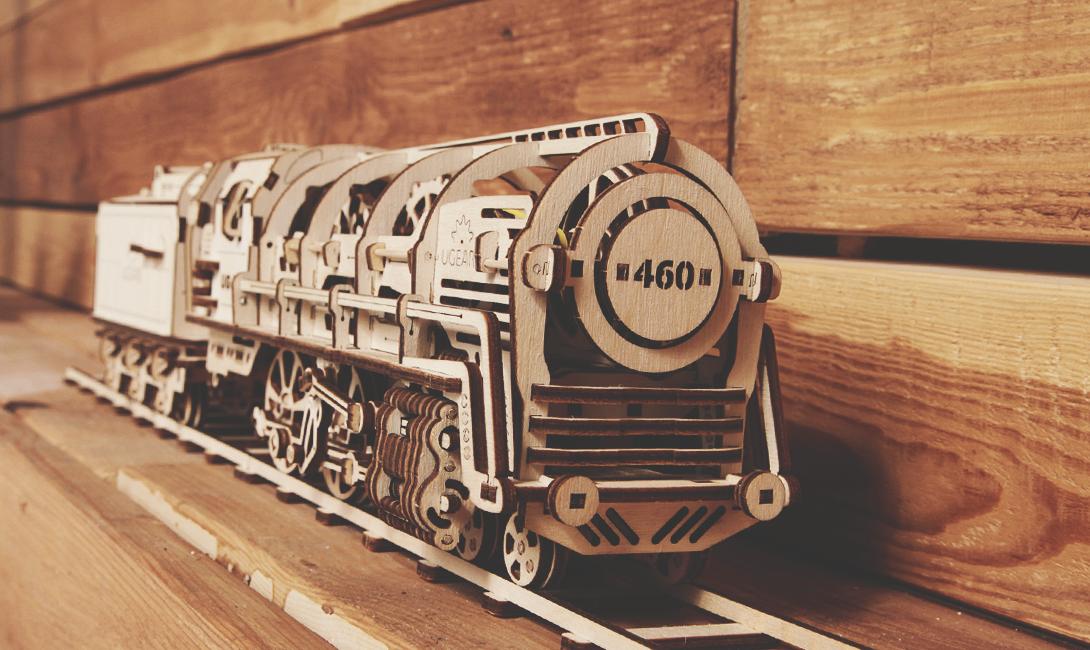 Деревянный конструктор Ugears локомотив