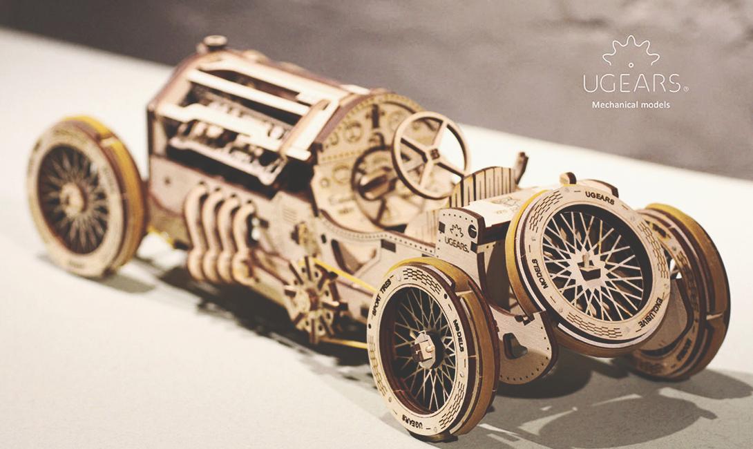 Деревянный конструктор Ugears спорткар U-9 Гран-при