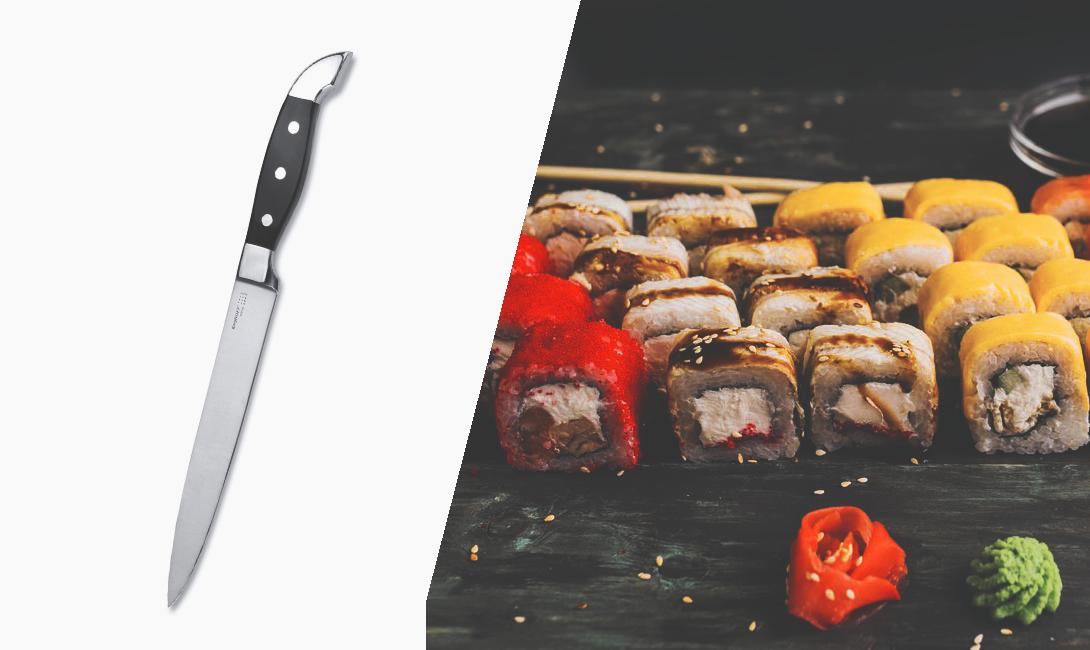 Нож для тонкой нарезки мяса и рыбы